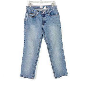 Vintage Calvin Klein Easy Straight Leg Jean All Over Sandblast Mom Jeans 8